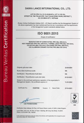 Renewed ISO 9001 & 14001 Certificates